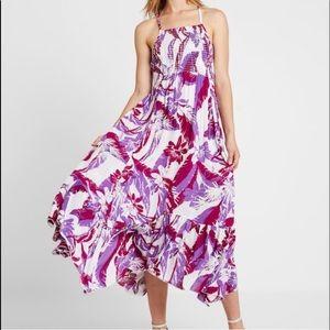 FREE PEOPLE Heat Wave Purple Floral Maxi Dress